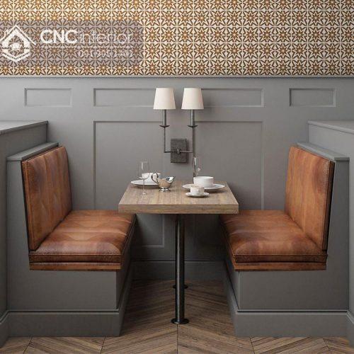 Bàn ghế nhà hàng cnc 14