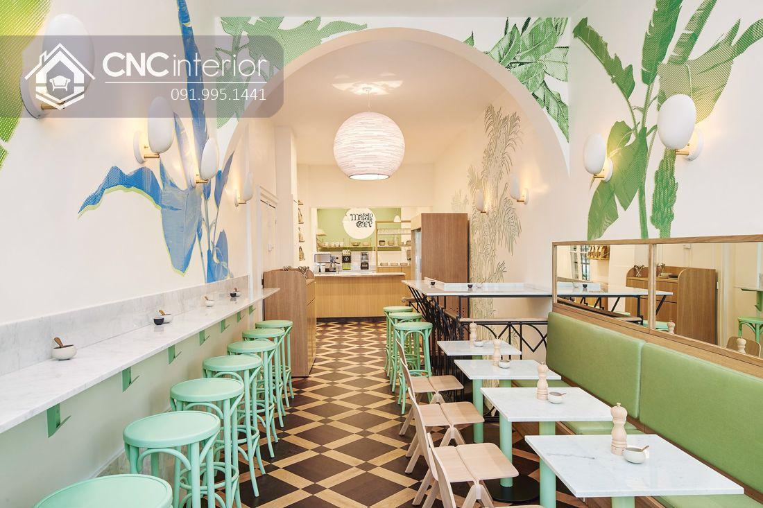 Bàn ghế ăn nhà hàng trẻ trung CNC 15 1
