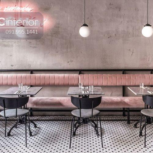 Bàn ghế nhà hàng cnc 18