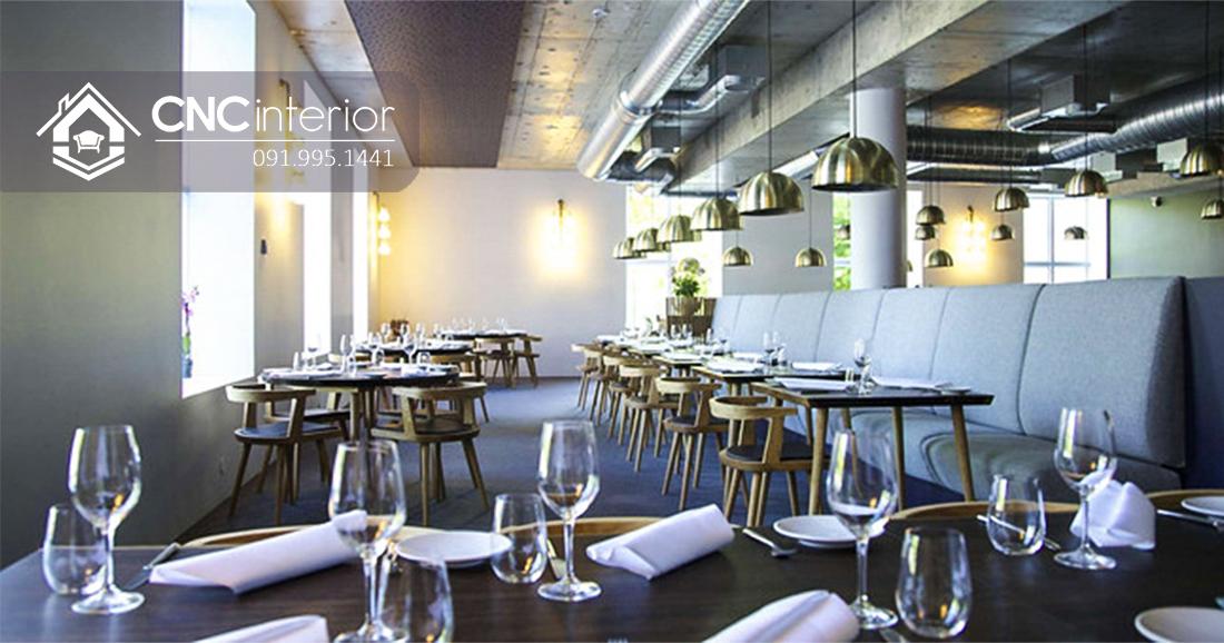 Bàn ghế nhà hàng phong cách industrial CNC 19 1