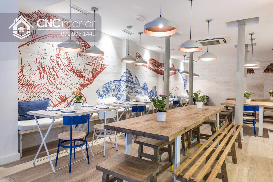 Mẫu bàn ghế nhà hàng đẹp hiện đại CNC 20 1
