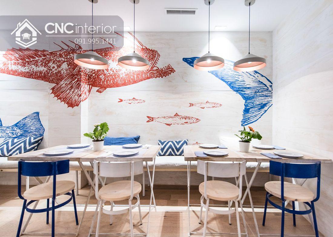 Mẫu bàn ghế nhà hàng đẹp hiện đại CNC 20 3