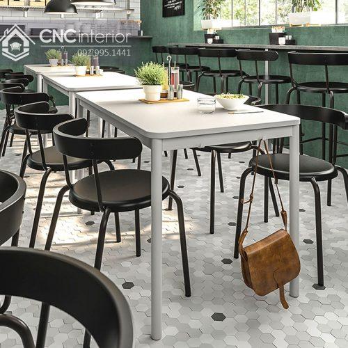 Bàn ghế nhà hàng cnc 21