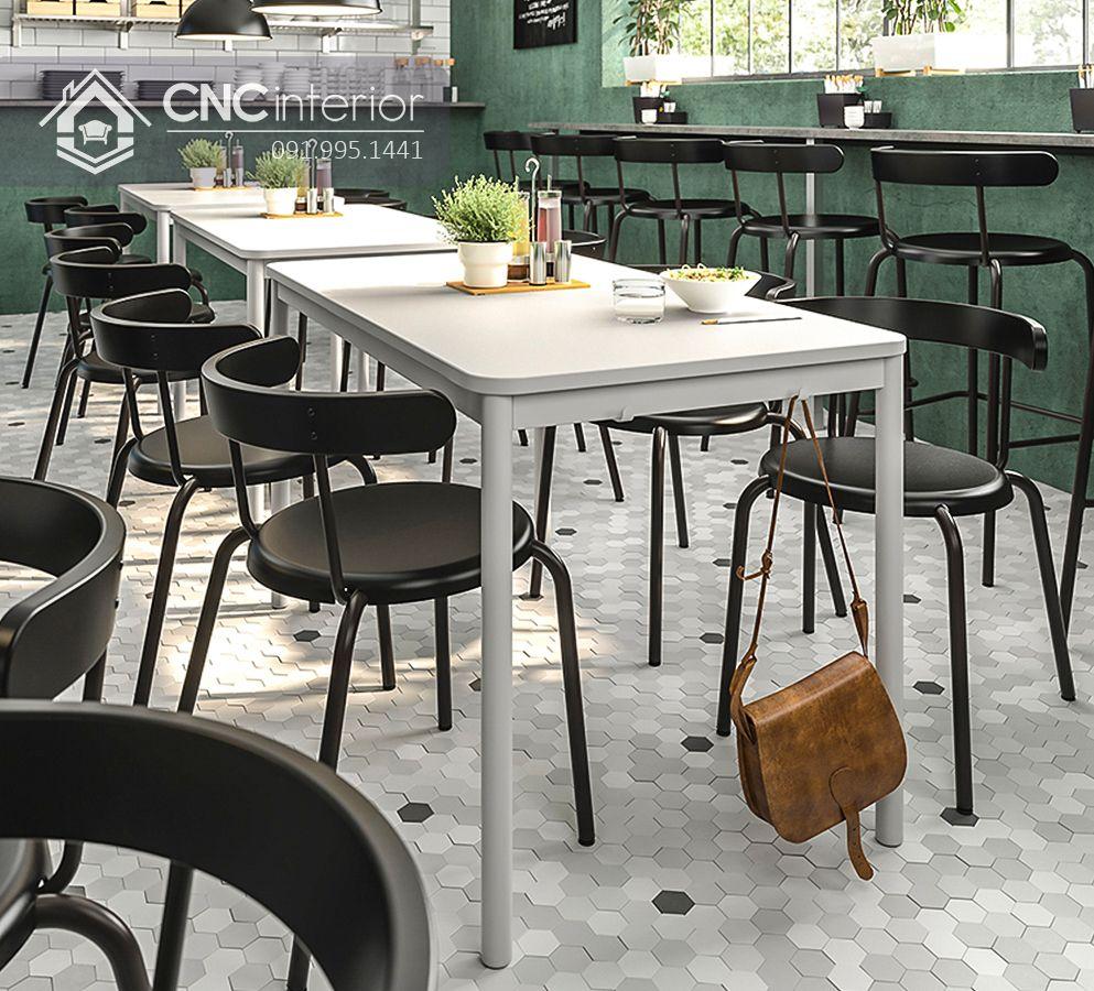 Bộ bàn ghế nhà hàng đơn giản CNC 21 1