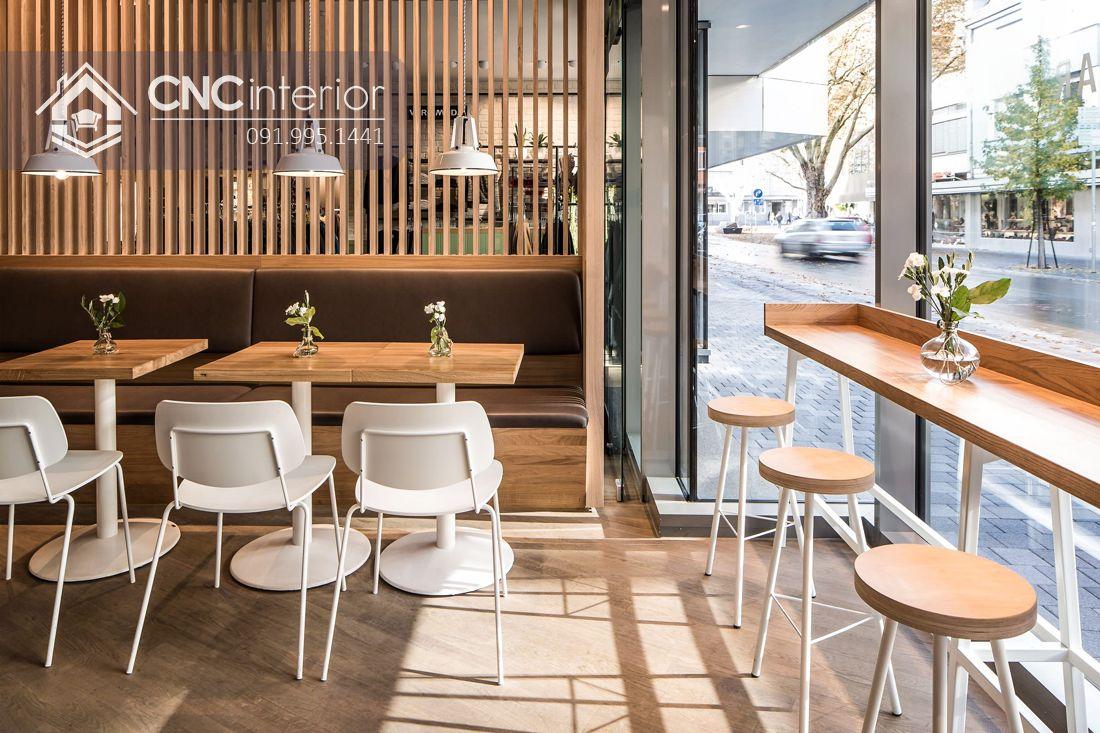 Bàn ghế nhà hàng chân sắt hiện đại CNC 22 1