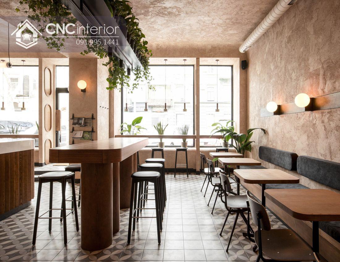 Bàn ghế ăn nhà hàng bằng gỗ đẹp CNC 24