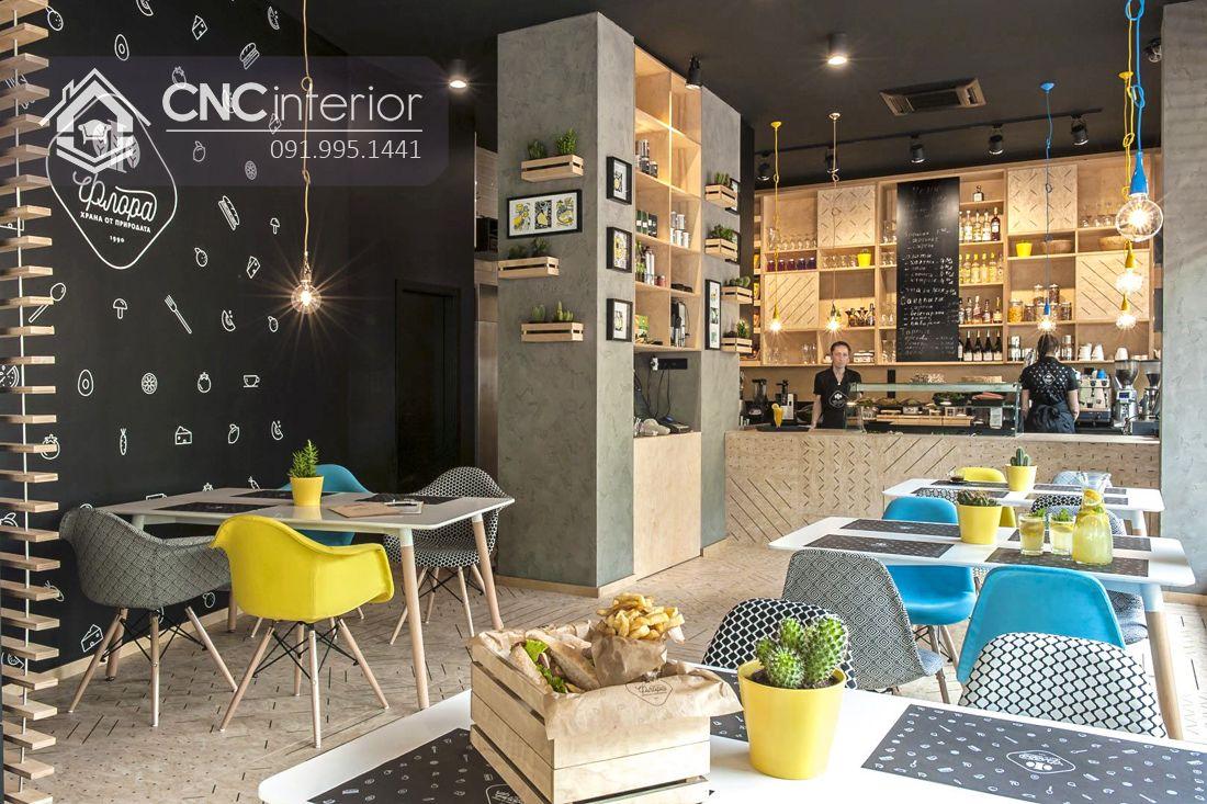 Bàn ghế nhà hàng hiện đại trẻ trung CNC 25 1