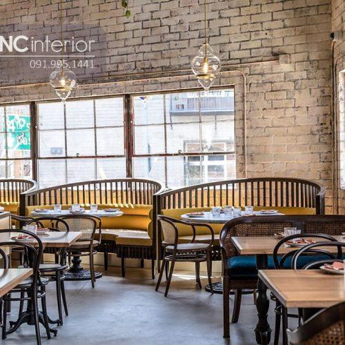 Bàn ghế nhà hàng cnc 26