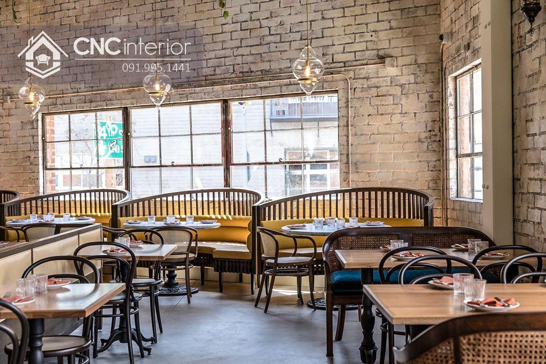 Bàn ghế ăn nhà hàng hơi hướng Vintage CNC 26 2