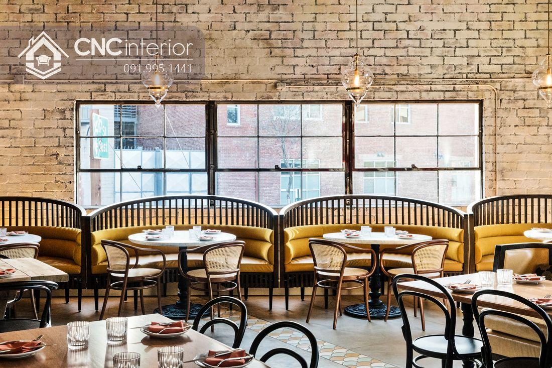 Bàn ghế ăn nhà hàng hơi hướng Vintage CNC 26 1