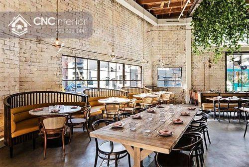 Bàn ghế ăn nhà hàng hơi hướng Vintage CNC 26 3