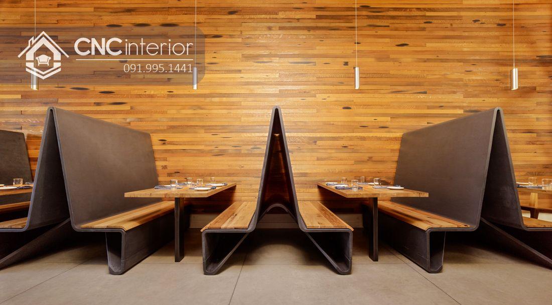 Bàn ghế nhà hàng đẹp độc đáo CNC 27
