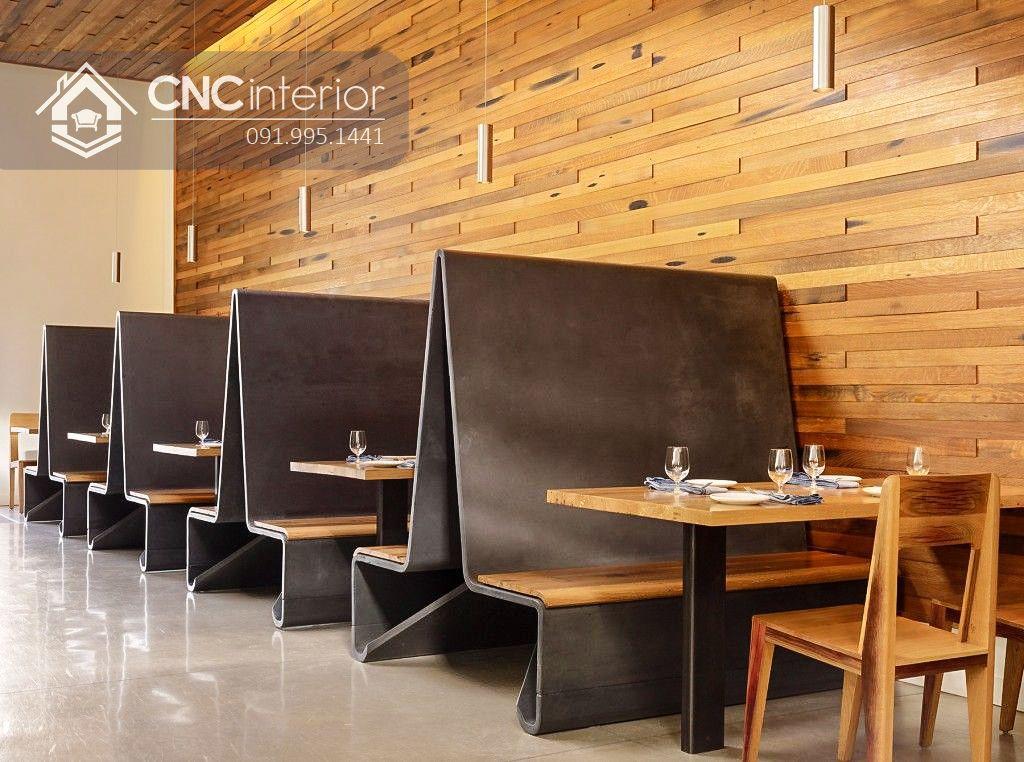 Bàn ghế nhà hàng đẹp độc đáo CNC 27 1