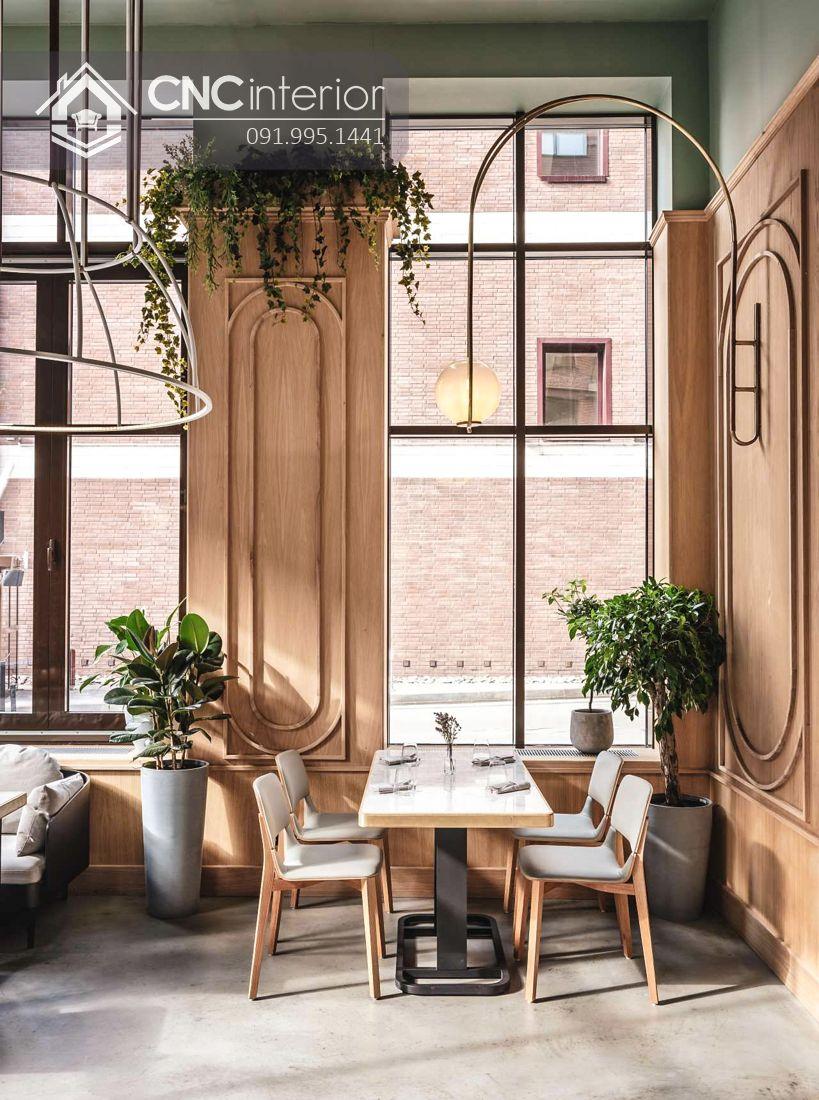 Bàn ghế nhà hàng sang trọng bằng gỗ đẹp CNC 28 1