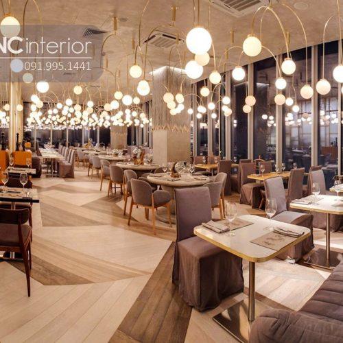 Bàn ghế nhà hàng cnc 02