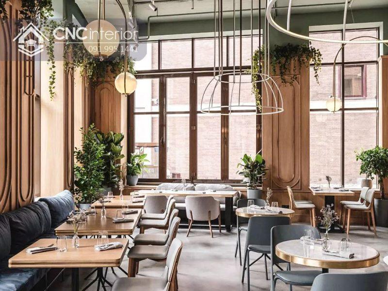 Bàn ghế nhà hàng cnc 28