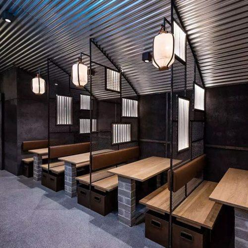 Bàn ghế nhà hàng cnc 29