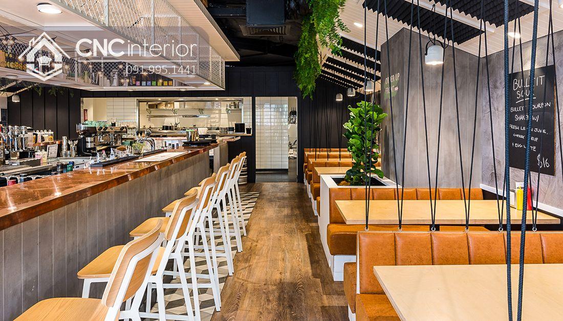 Bàn ghế ăn nhà hàng Industrial cá tính CNC 30