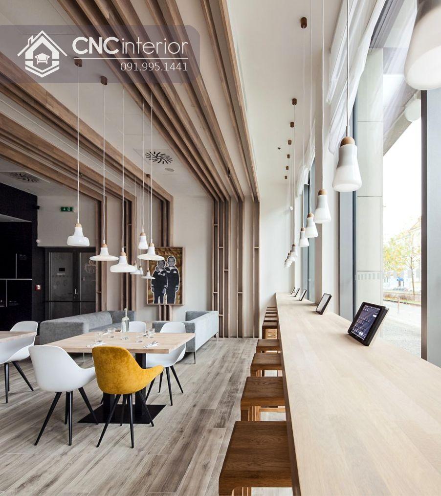Bàn ghế nhà hàng chân sắt đơn giản CNC 32 1
