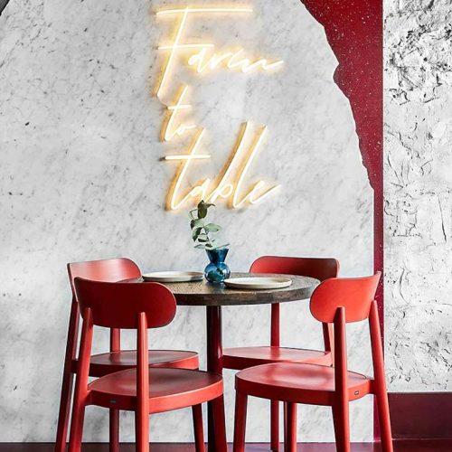 Bàn ghế nhà hàng cnc 34