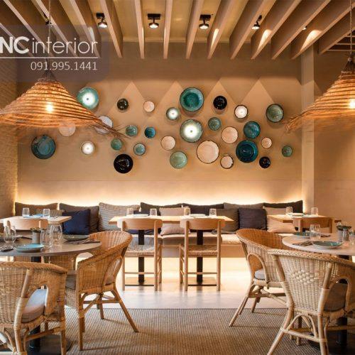 Bàn ghế nhà hàng cnc 35