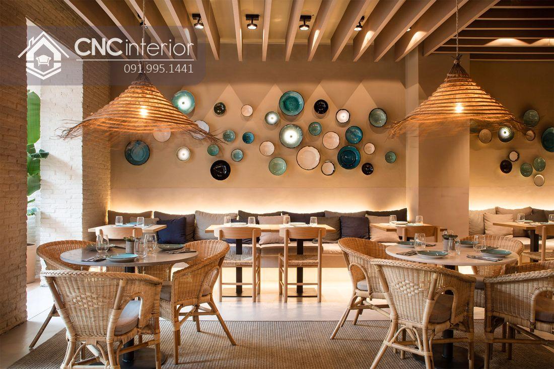 Bàn ghế nhà hàng mây đan CNC 35 1