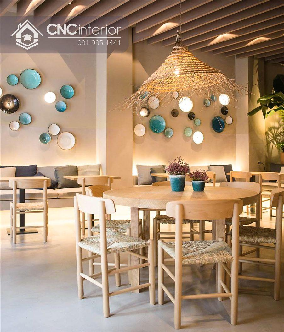 Bàn ghế nhà hàng mây đan CNC 35