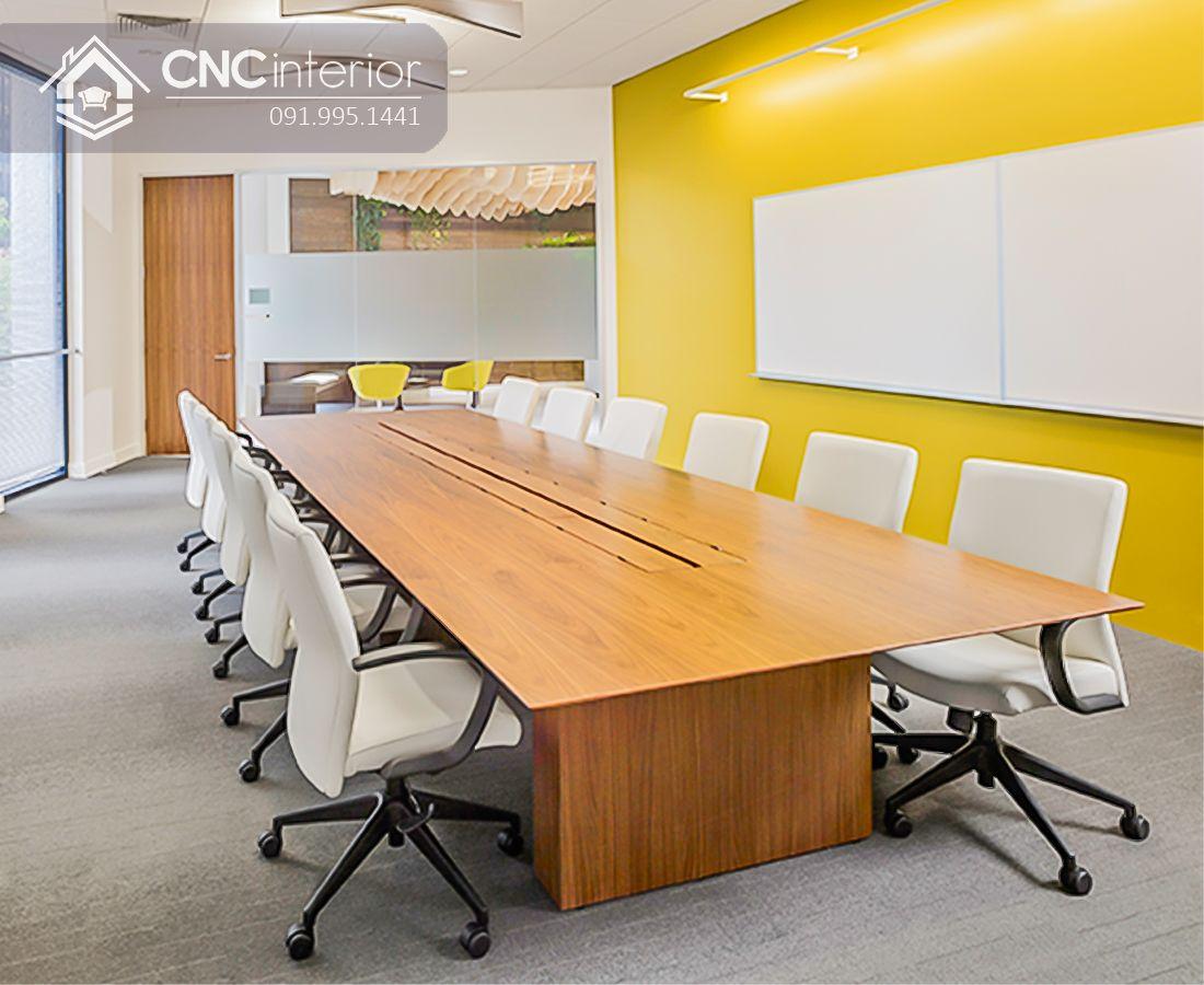 bàn họp gỗ đơn giản CNC 05 2