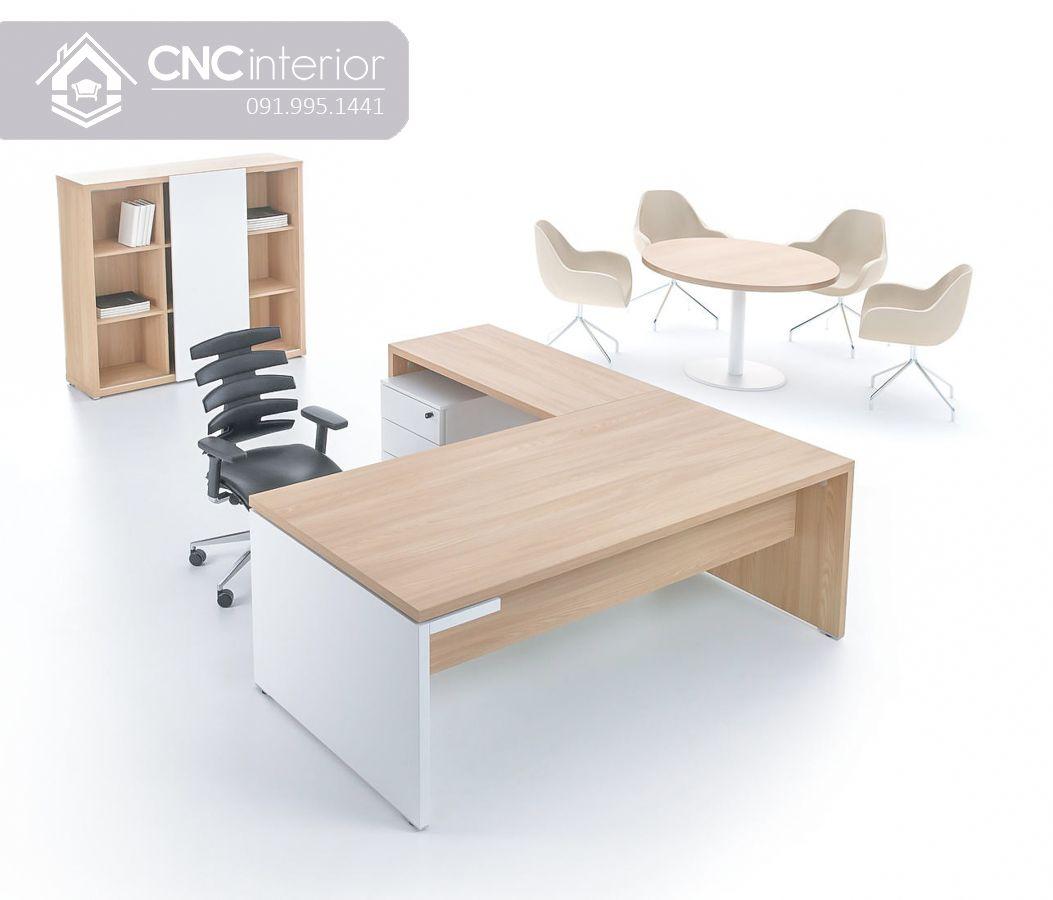 Bàn giám đốc chữ L gỗ công nghiệp hiện đại CNC 26-2