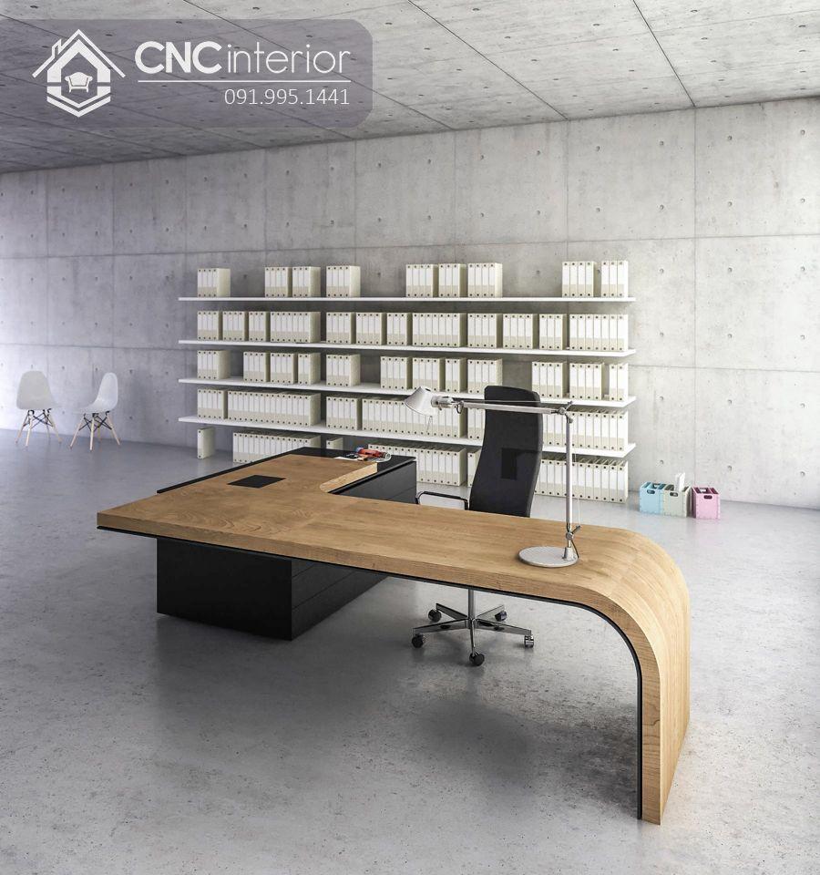 Bàn giám đốc gỗ công nghiệp MDF Veneer cao cấp CNC 32