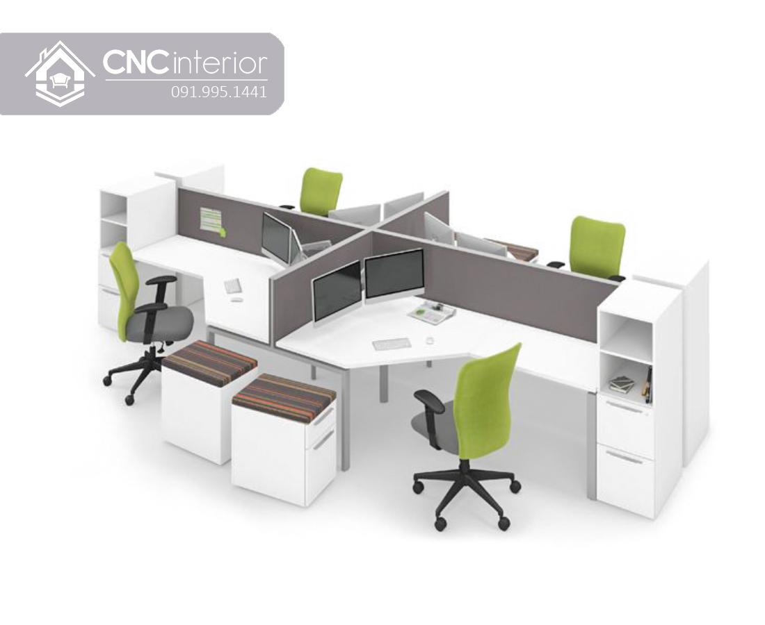 Bàn nhân viên văn phòng hiện đại CNC 01
