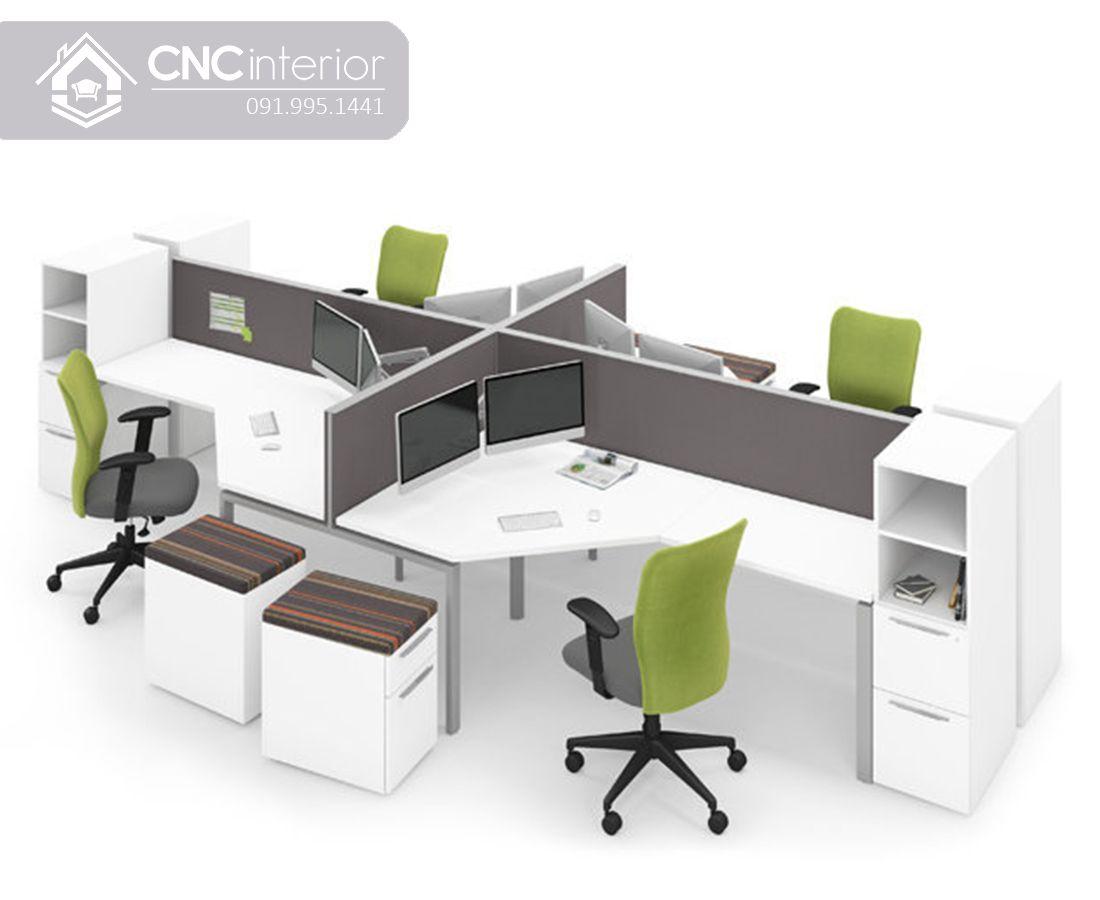 Bàn nhân viên văn phòng hiện đại CNC 01 2