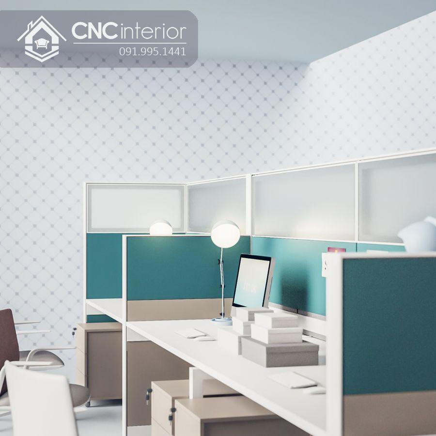 Bàn làm việc nhân viên có vách ngăn cao CNC 12 1