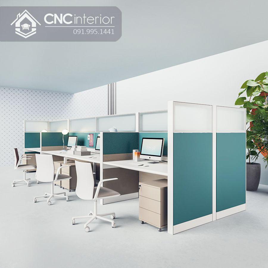 Bàn làm việc nhân viên có vách ngăn cao CNC 12