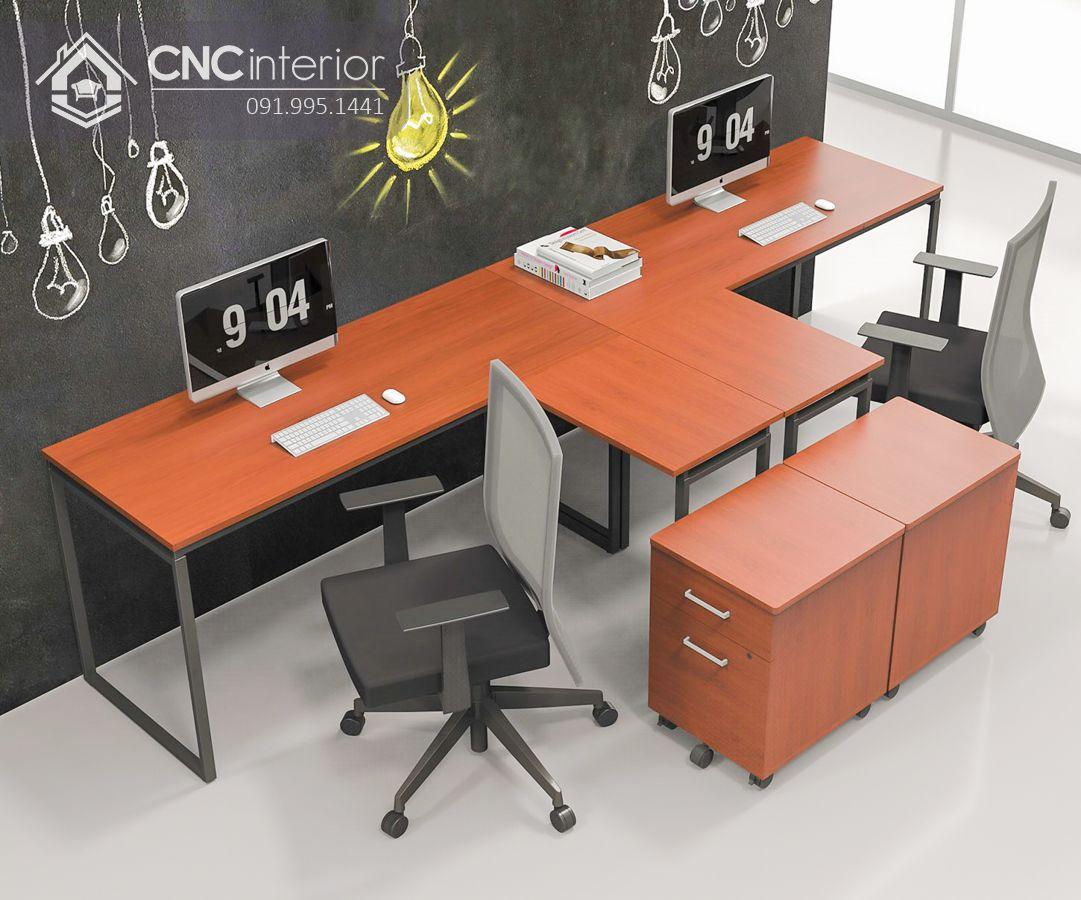Bàn làm việc văn phòng chân sắt ấn tượng CNC 16 1