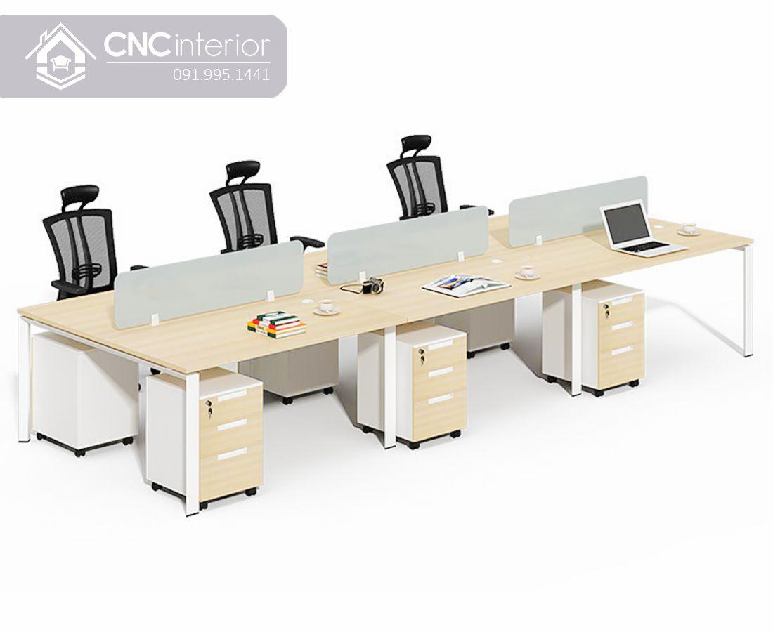 Bàn làm việc nhóm 4 người đơn giản CNC 05 3