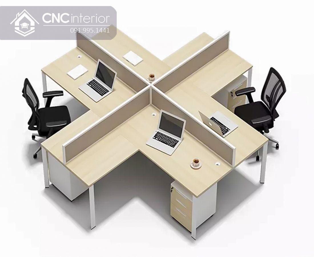 Bàn làm việc nhóm 4 người đơn giản CNC 05 1