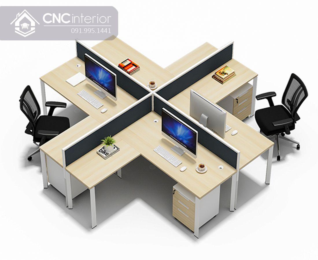 Bàn làm việc nhóm 4 người đơn giản CNC 05