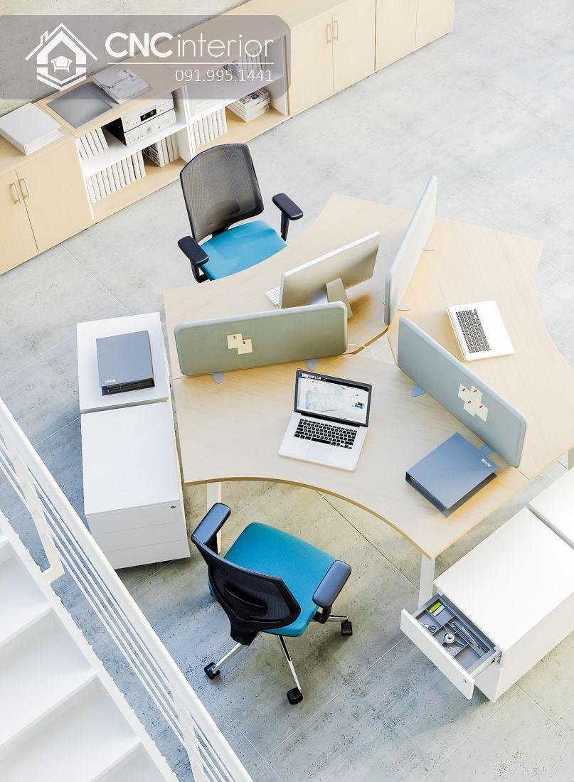 Bàn làm việc nhân viên văn phòng CNC 06 1