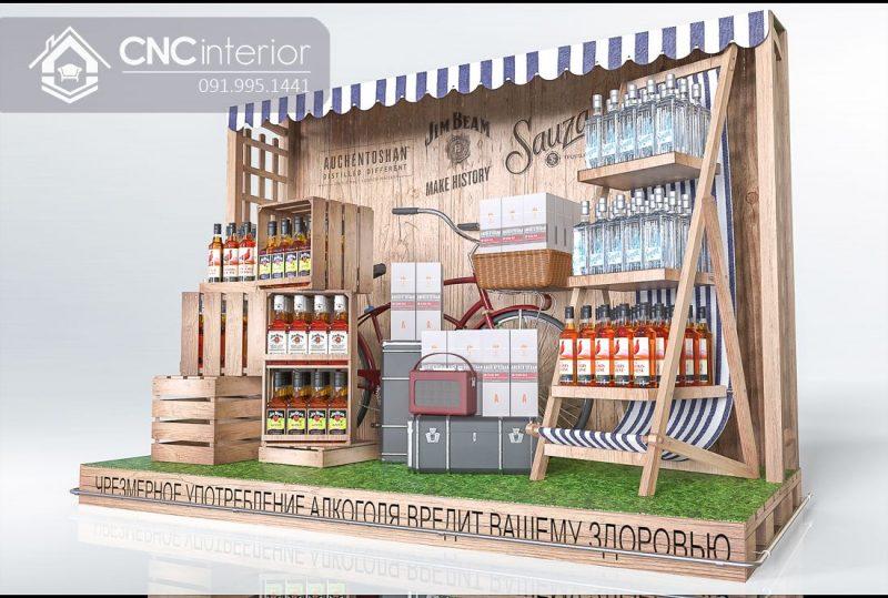 Booth quảng cáo CNC 05