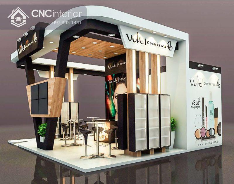 Booth quảng cáo CNC kết cấu vững chãi.