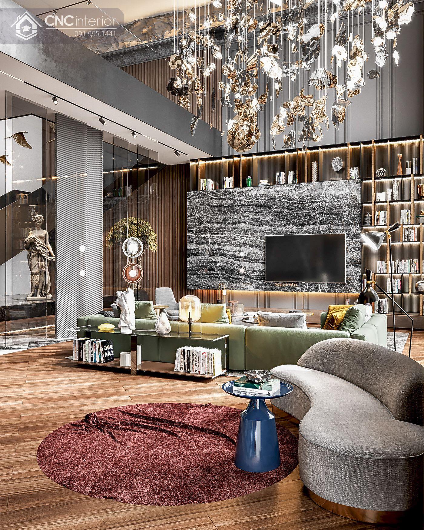 các mẫu thiết kế nội thất biệt thự đẹp 4