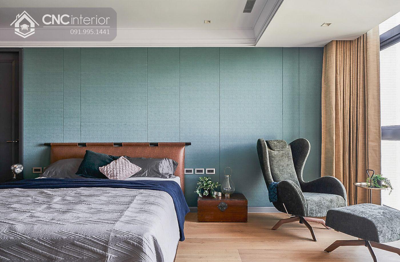 phòng ngủ pha Mid Century cùng chút màu sắc Retro 26