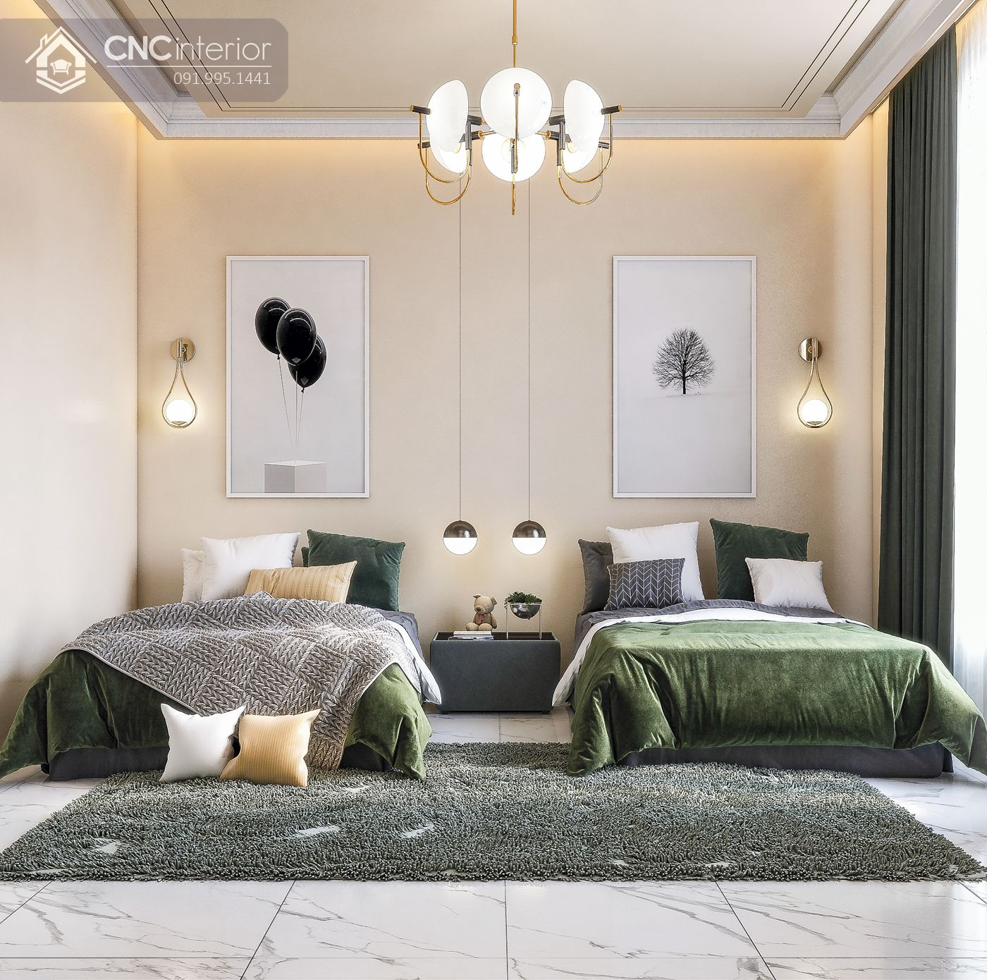 các mẫu thiết kế nội thất phòng ngủ đẹp 3