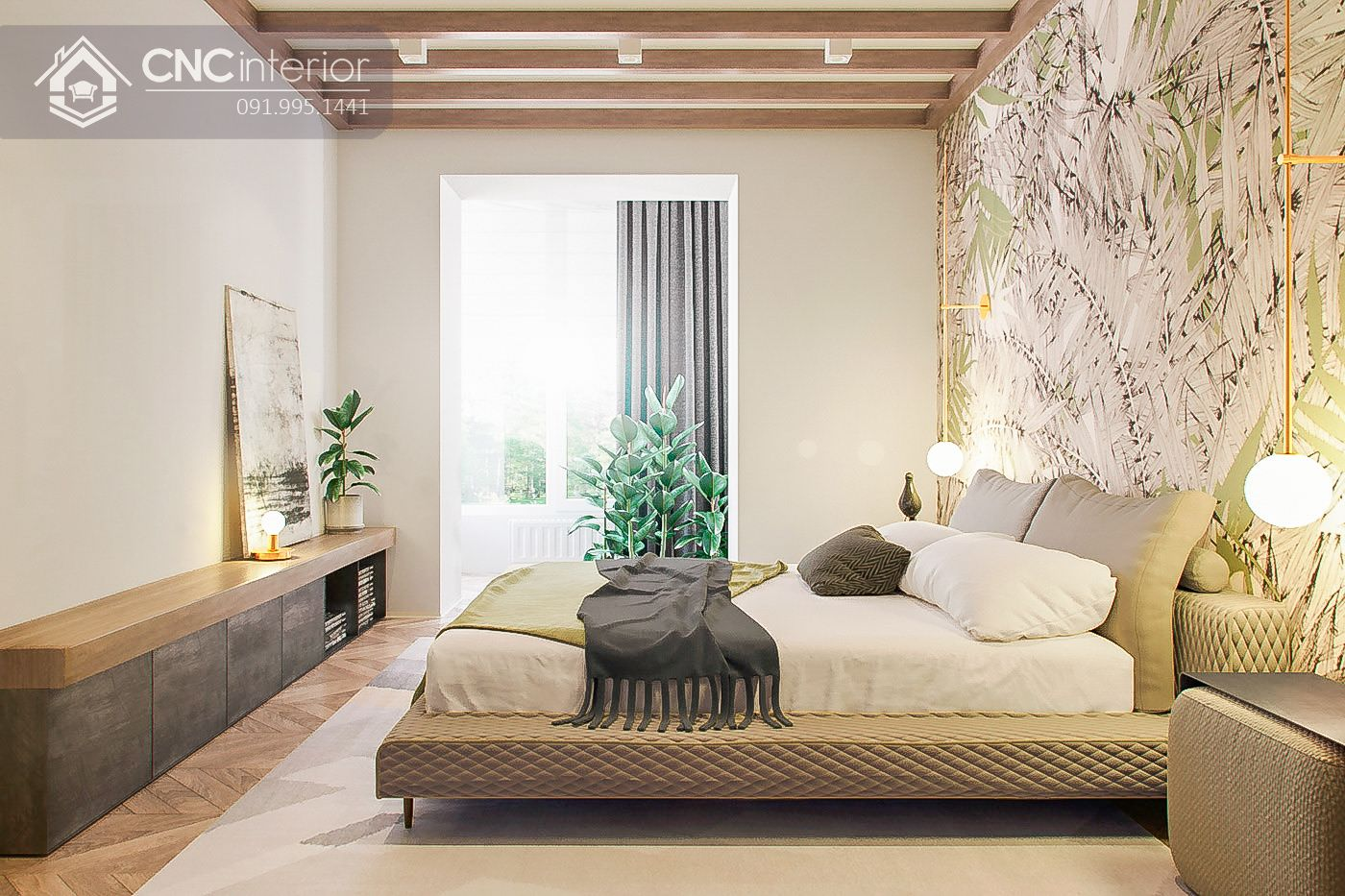 phòng ngủ phong cách Eco 22