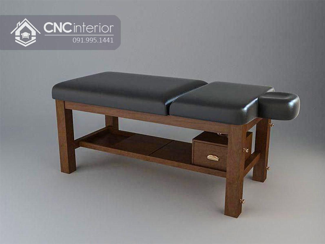Giường Spa gỗ CNC 01