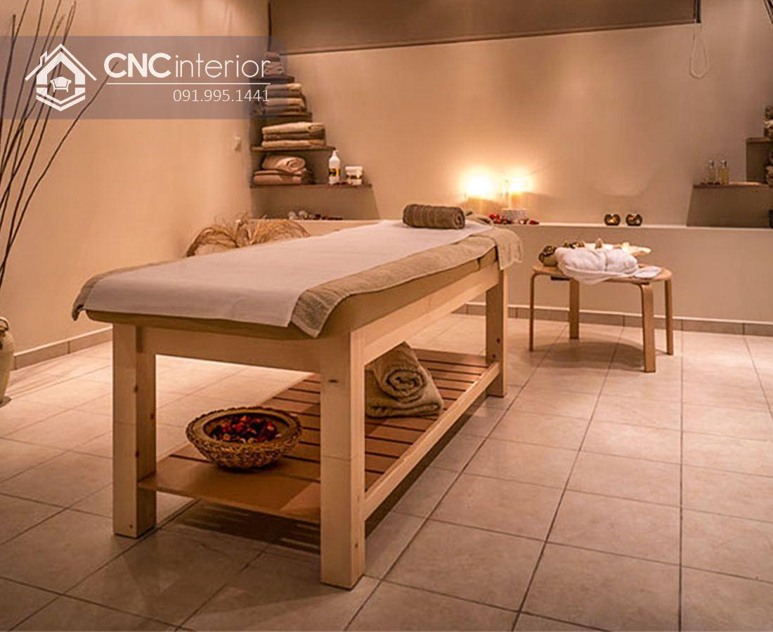 Giường Spa gỗ CNC 07