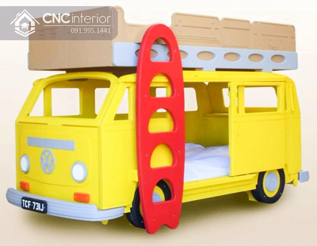 Giường 2 tầng cho bé hình ô tô CNC 07