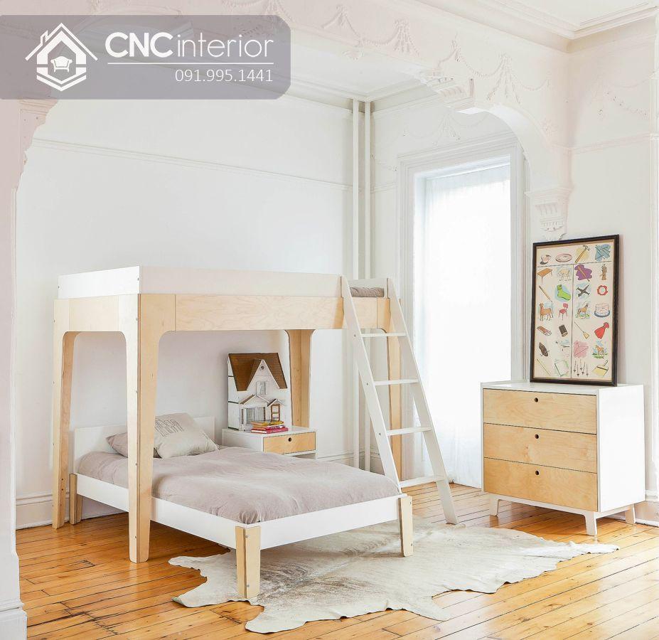 Giường 2 tầng trẻ em kiểu so le CNC 09 1