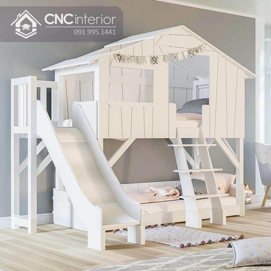 Giường tầng có cầu trượt đẹp cho bé CNC 10